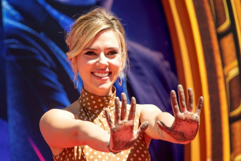 Scarlett Johansson, pictured April 2019, earned $15.5 million more in 2019 than in 2018, making her the world's highest paid actress for the second year running