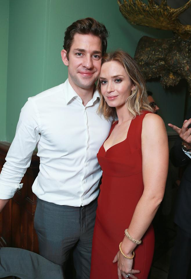 """Looper"" officially kicked of the 2012 Toronto International Film Festival, a big deal for the film's leading lady, Emily Blunt. Luckily, her hubby John Krasinski was at her side while she stunned her fans with her performance, and with that red dress."