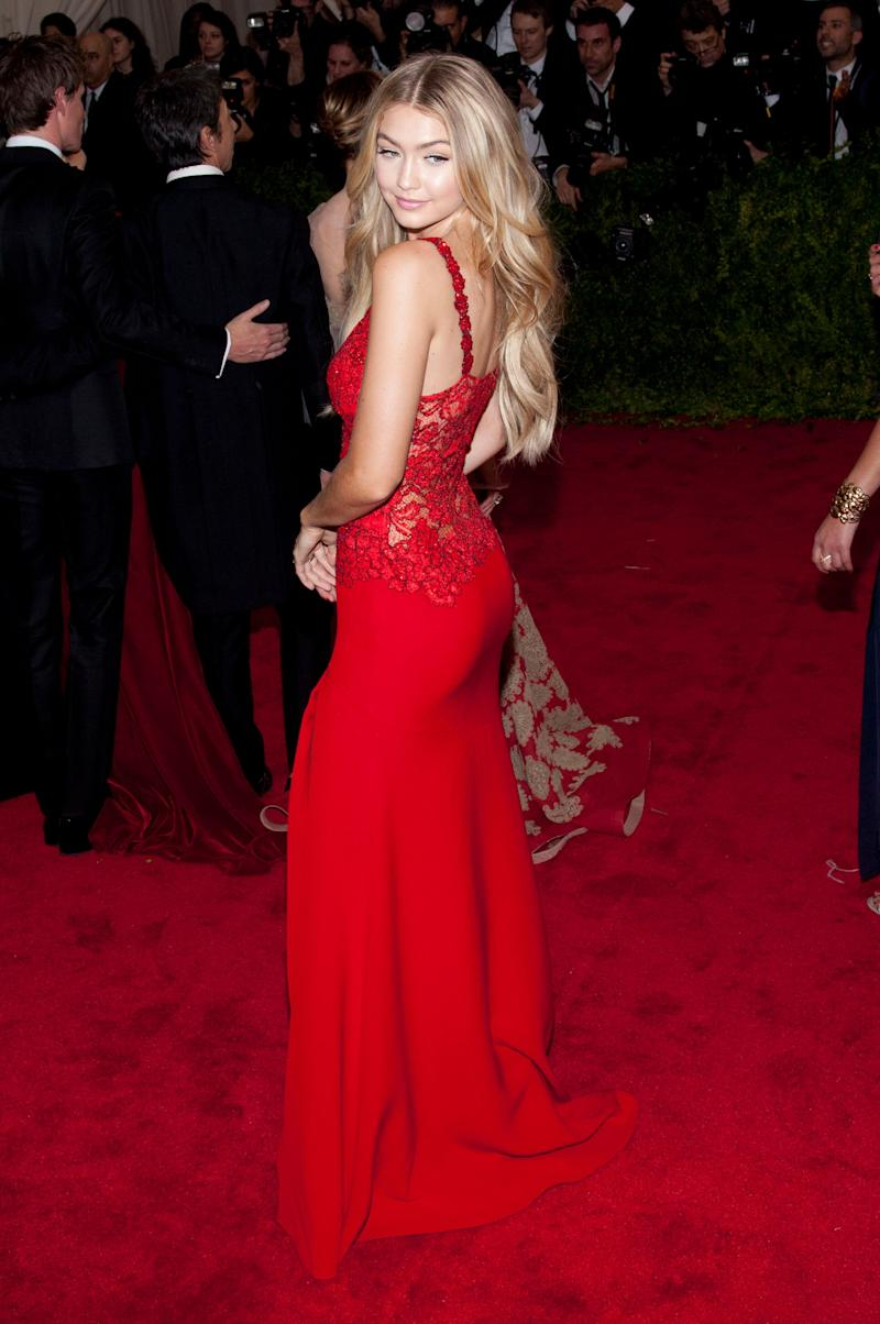 """In aDiane von Furstenbergdress at the""""China: Through the Looking Glass"""" 2015 Costume Institute Benefit Gala at the Metropolitan Museum of Art in New York City."""