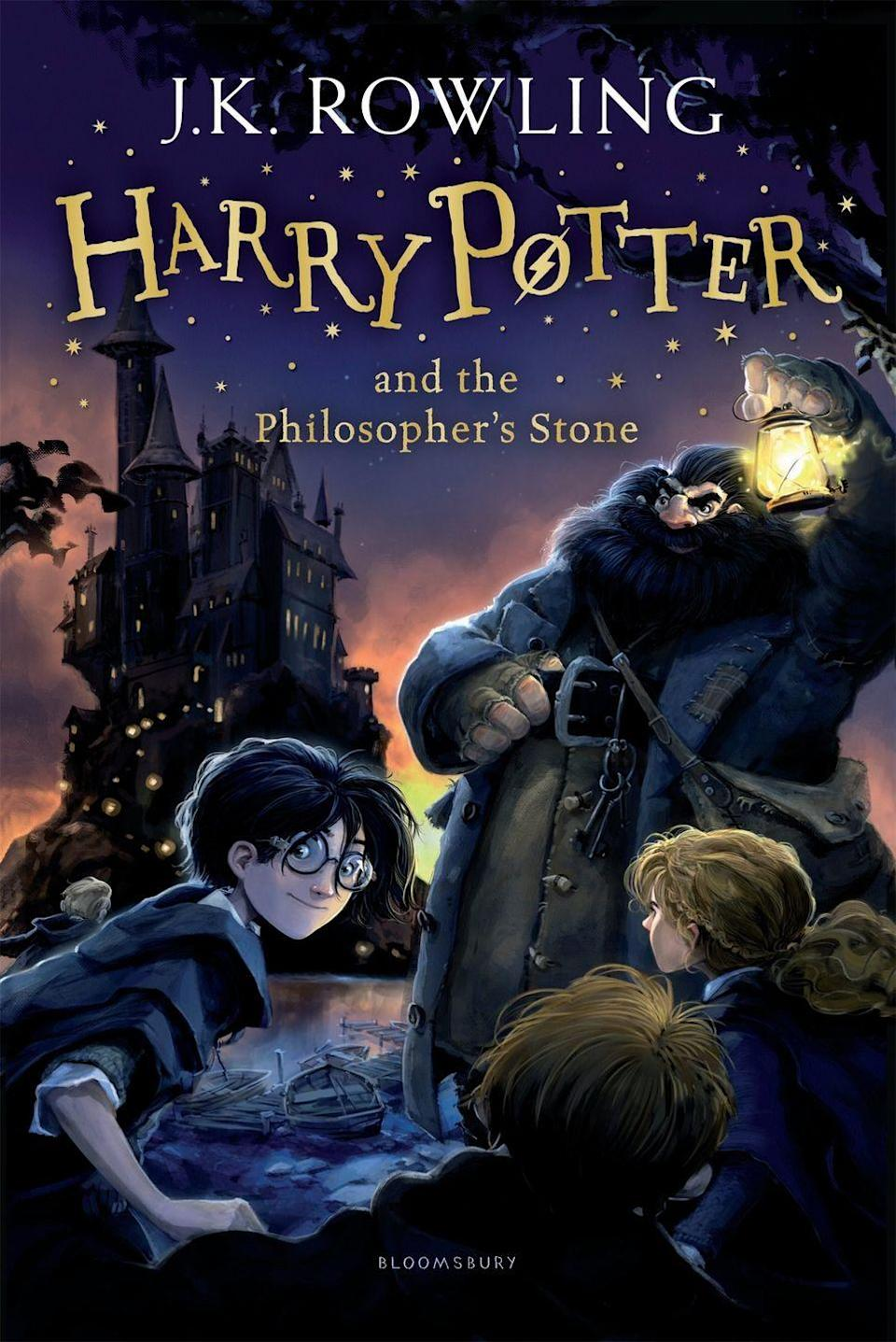 "<p>Harry Potter and the Philosopher's Stone is the first book in J.K. Rowling's Harry Potter series. The series follows Potter as he leaves his muggle (non-wizarding) family to join the Hogwarts School of Witchcraft and Wizardry with Hermione Granger and Ron Weasley. And before you ask, no it's not just for children.</p><p><a class=""link rapid-noclick-resp"" href=""https://www.amazon.co.uk/Harry-Potter-Philosophers-Stone/dp/1408855658?tag=hearstuk-yahoo-21&ascsubtag=%5Bartid%7C1921.g.32141605%5Bsrc%7Cyahoo-uk"" rel=""nofollow noopener"" target=""_blank"" data-ylk=""slk:SHOP NOW"">SHOP NOW</a></p>"