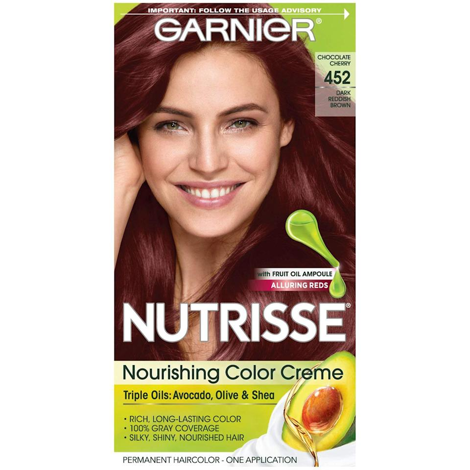 """<p>""""I like Garnier, especially for blondes. They have options ranging from ashy (for cooler tones) to more golden if you want a warmer look,"""" explains Fitzsimons. Made with a blend of avocado, shea, and coconut oils, Garnier Nutrisse Color Crème is available in 45 shades, so there's something for everyone.</p> <p>$8 (<a rel=""""nofollow"""" href=""""https://shop-links.co/1661975576280235296"""" rel=""""nofollow"""">Shop Now</a>)</p>"""