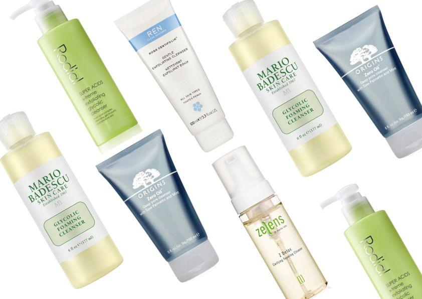 <p>From ZO to Zelens, all manner of skincare brands are formulating their cleansers with glycolics, AHAs and skin-friendly acids to cut through the oil and greasiness that often leads to both breakouts and that dreaded 1pm shine. Shop our pick of the bunch that'll leave your skin feeling clean, hydrated and satisfyingly matte to the touch, even under make-up.</p>