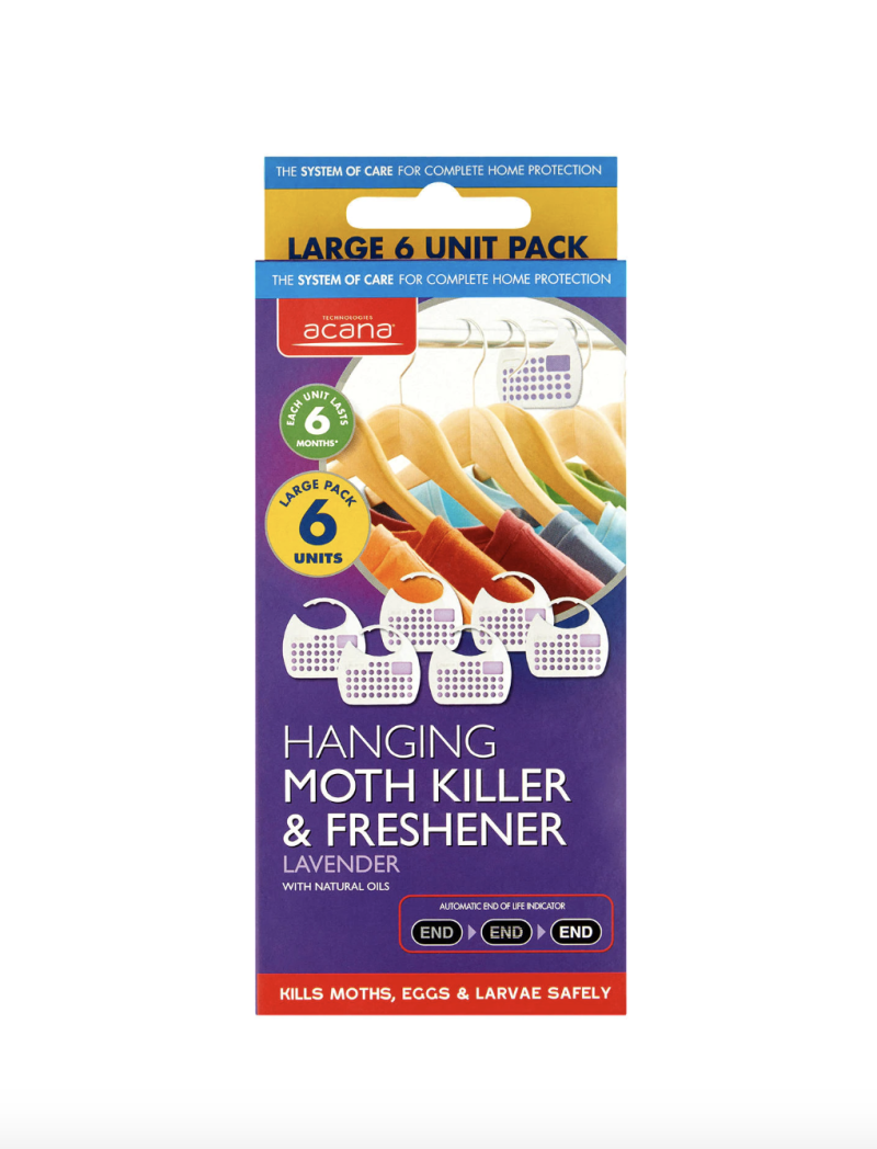 Acana Hanging Moth Killer and Wardrobe Freshener, Pack of 6 £6.99