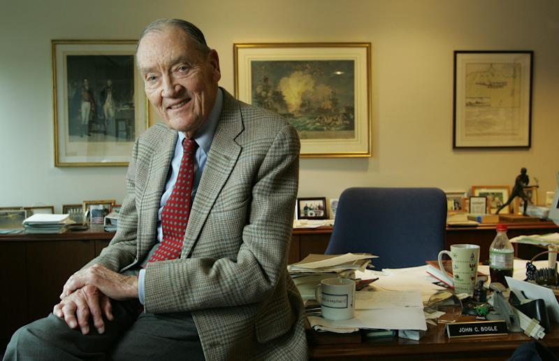 Jack Bogle, founder and former chief executive of The Vanguard Group, Inc. and President of the Bogle Financial Markets Research Center. He is photographed in his office at Vanguard Group, Inc. in Malvern, PA.