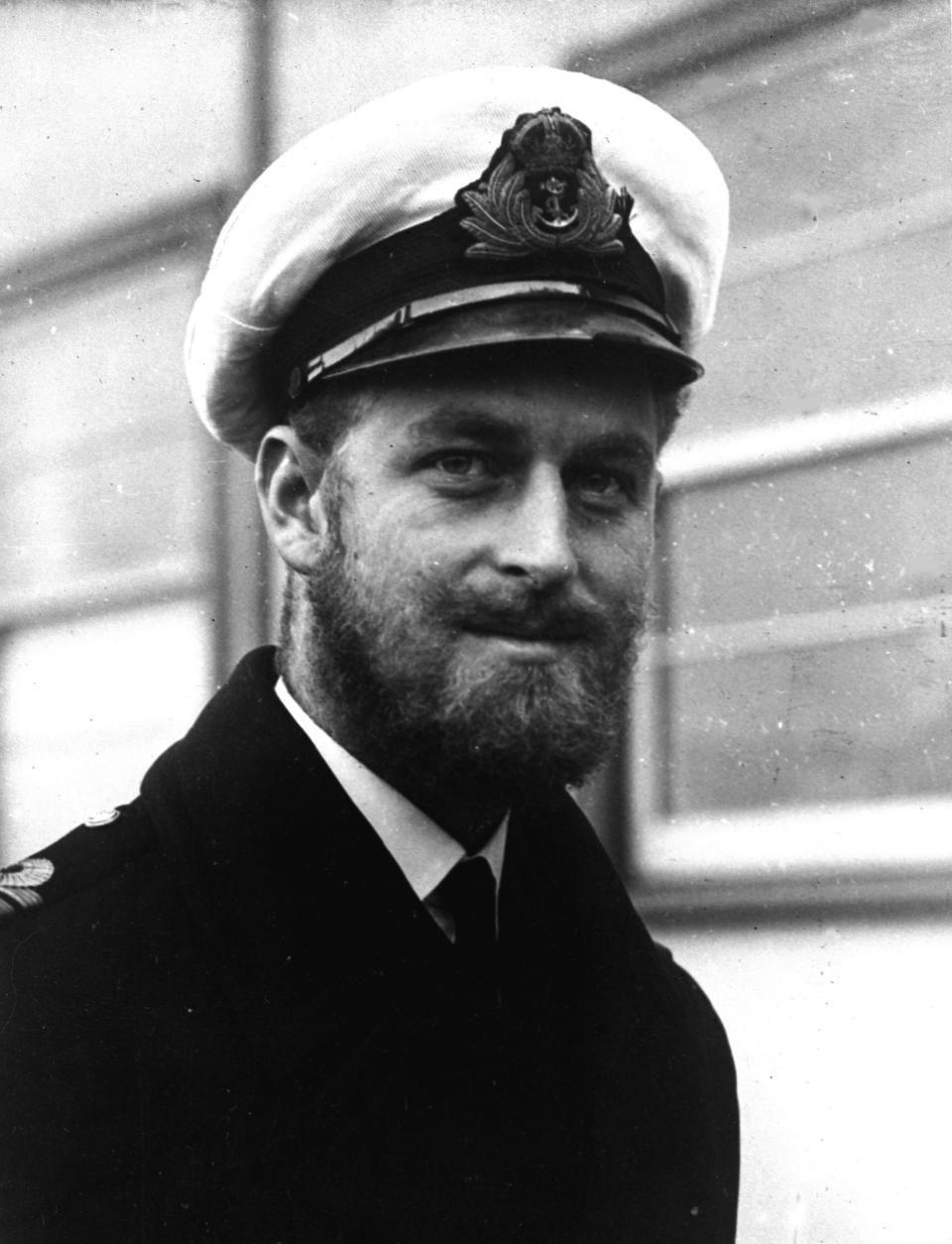 FILE - In this file photo dated August 29 1945, Prince Philip of Greece, now Britain's Duke of Edinburgh, during a naval visit to Melbourne, Australia. Prince Philip who died Friday April 9, 2021, aged 99, lived through a tumultuous century of war and upheavals, but he helped forge a period of stability for the British monarchy under his wife, Queen Elizabeth II. Philip joined the Royal Navy and saw action during World War II on battleships in the Indian Ocean, the Mediterranean and the Pacific. (AP Photo, FILE)
