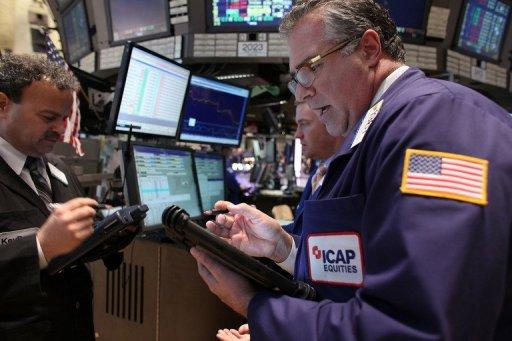 The Dow Jones Industrial Average dived 136.99 points (1.05 percent) to finish at 12,849.59