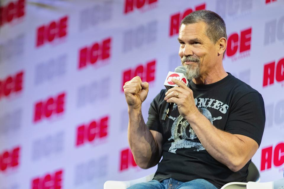 SEATTLE, WA - JUNE 30:  Josh Brolin speaks on stage during ACE Comic Con at Century Link Field Event Center on June 28, 2019 in Seattle, Washington.  (Photo by Mat Hayward/Getty Images)