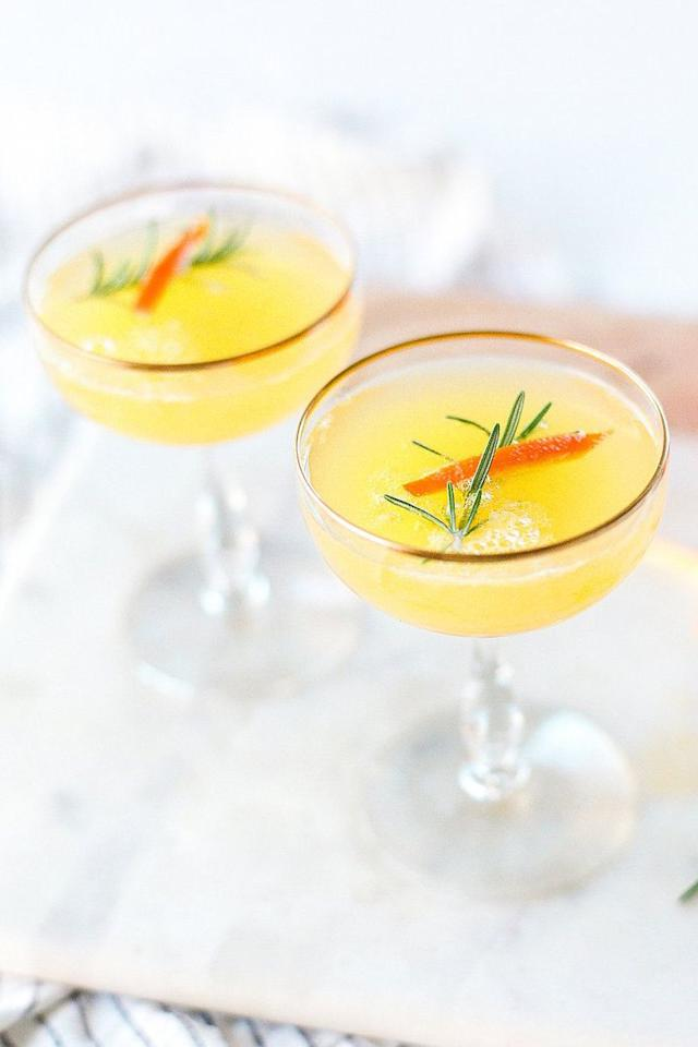 """<p>Raise a glass with clementine mimosas infused with earthy rosemary.</p><p><em><a href=""""http://laurenkelp.com/clementine-and-rosemary-mimosa/"""" target=""""_blank"""">Get the recipe from Lauren Kelp »</a></em></p>"""