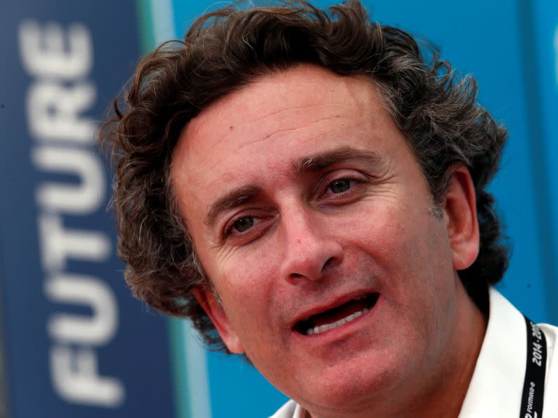 FILE PHOTO: Alejandro Agag, Formula E CEO, speaks during an interview with Reuters ahead of round four of the Formula E championship in Buenos Aires