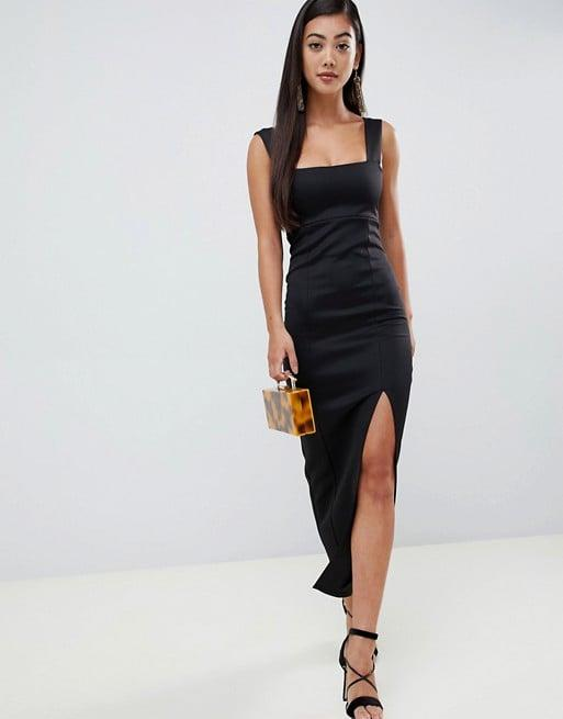 "<p>Having this <a href=""https://www.popsugar.com/buy/ASOS-Design-Square-Neck-Maxi-Dress-430985?p_name=ASOS%20Design%20Square%20Neck%20Maxi%20Dress&retailer=us.asos.com&pid=430985&price=56&evar1=fab%3Aus&evar9=46011264&evar98=https%3A%2F%2Fwww.popsugar.com%2Ffashion%2Fphoto-gallery%2F46011264%2Fimage%2F46011319%2FASOS-Design-Square-Neck-Maxi-Dress&list1=shopping%2Cdresses%2Cspring%2Csummer%2Cpetites%2Cspring%20fashion%2Csummer%20fashion&prop13=mobile&pdata=1"" rel=""nofollow"" data-shoppable-link=""1"" target=""_blank"" class=""ga-track"" data-ga-category=""Related"" data-ga-label=""https://us.asos.com/asos-petite/asos-design-petite-square-neck-maxi-dress-with-thigh-split/prd/10566232?clr=black&amp;SearchQuery=petite%20black%20dress&amp;gridcolumn=4&amp;gridrow=7&amp;gridsize=4&amp;pge=1&amp;pgesize=72&amp;totalstyles=343"" data-ga-action=""In-Line Links"">ASOS Design Square Neck Maxi Dress</a> ($56) in your closet will always come in handy.</p>"