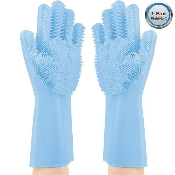 <p>From dishes, bathrooms, cars, and even pets these <span>Magic Silicone Gloves</span> ($14, originally $20) can clean almost everything.</p>