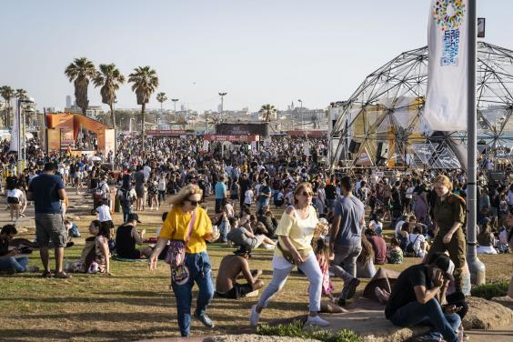 Thousands party at the Eurovision village in Tel Aviv (Bel Trew)