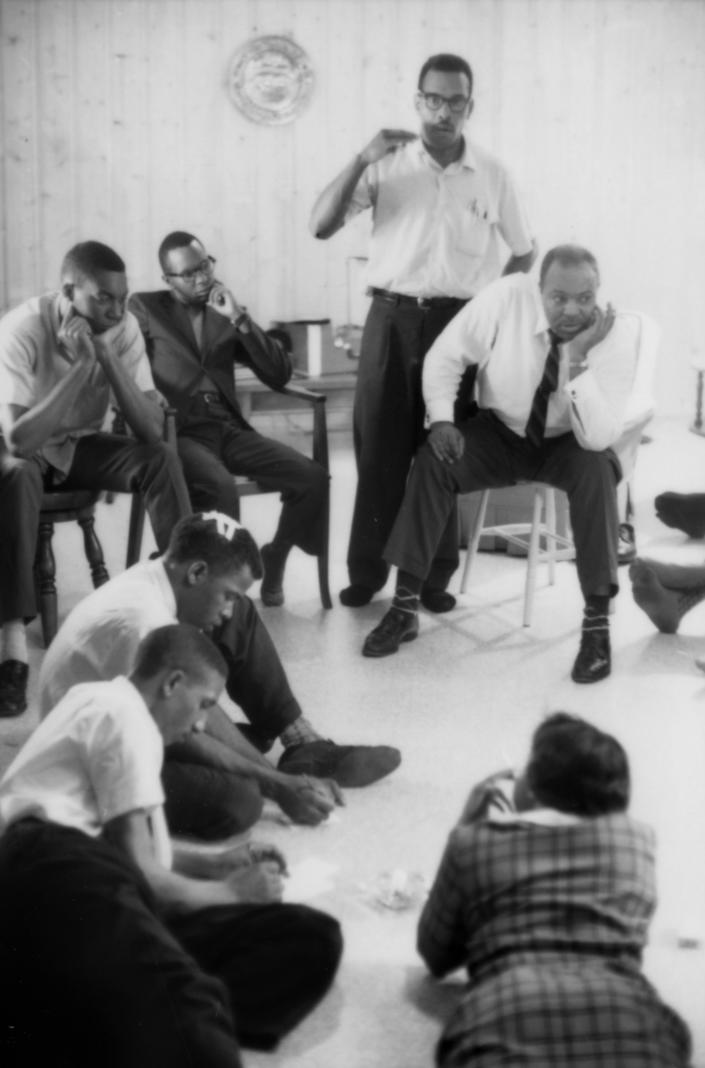 Freedom Rider John Lewis with a bandaged head, relaxing and regrouping with fellow Freedom Riders in a safe house in Montgomery, Ala., during the Freedom Rider crisis in May of 1961. (Photo: Paul Schutzer/Time Life Pictures/Getty Images)
