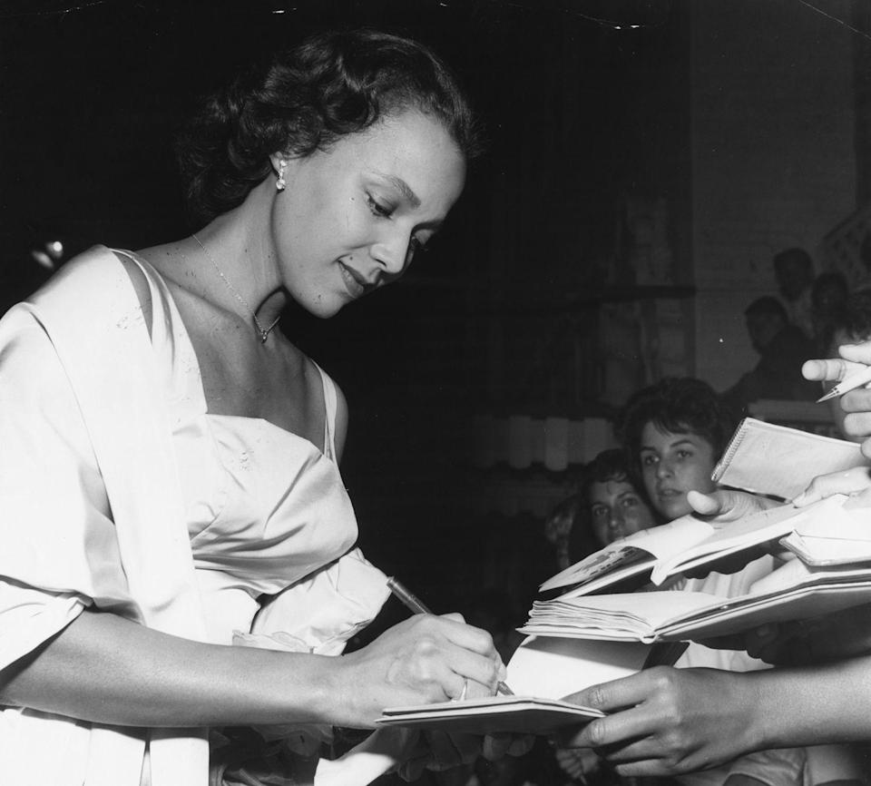 """<p>The actress famously turned down a role in <em>The King and I, </em>because she <a href=""""https://www.nytimes.com/1997/06/19/movies/hollywood-s-tryst-with-dorothy-dandridge-inspires-real-love-at-last.html"""" rel=""""nofollow noopener"""" target=""""_blank"""" data-ylk=""""slk:refused to play the role of a slave"""" class=""""link rapid-noclick-resp"""">refused to play the role of a slave</a>. The actress was very outspoken about her frustration with the lack of roles available to her in Hollywood, and her decision to refuse a starring role in a major picture emphasized that.</p>"""