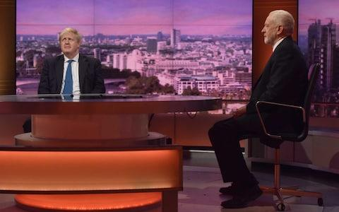 Foreign Secretary Boris Johnson and Labour leader Jeremy Corbyn - Credit: Jeff Overs/BBC