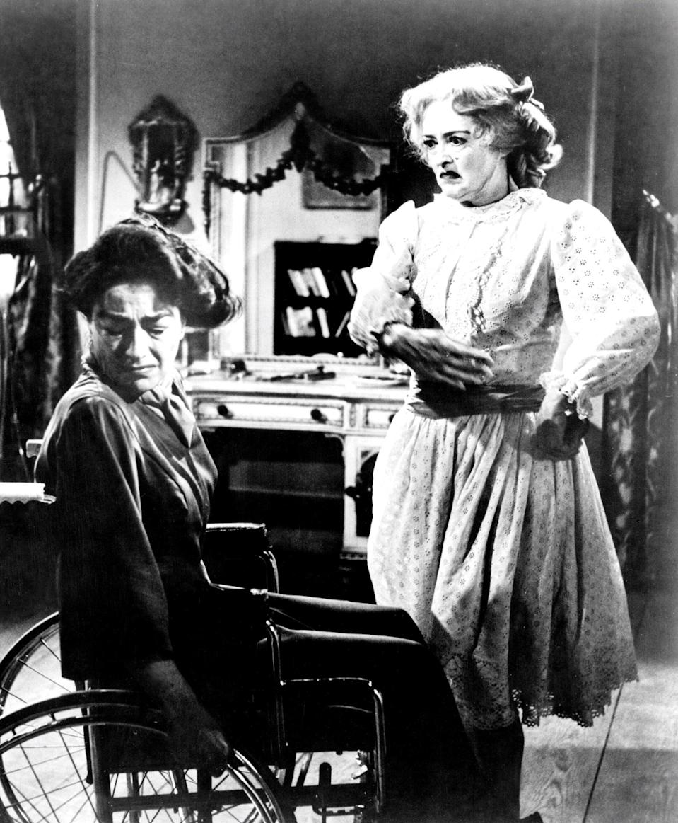 "<p>Crawford makes multiple appearances on this list—this time for <em>What Ever Happened to Baby Jane?,</em> a genuinely terrifying film in which she and Bette Davis play bitter, aging sisters who live together, psychologically tormenting each other in their twilight years. (Well, it's Davis's Jane Hudson tormenting her wheelchair-bound sister, Blanche.) The movie works on multiple levels: as straight horror, as biting social commentary on Hollywood's treatment of ""older"" women, and as a snapshot for one of pop culture's greatest feuds. Crawford and Davis were rivals in real life, too, and seeing them on screen together is a thrill. So thrilling, in fact, that Ryan Murphy made a miniseries in 2017 about the making of <em>What Ever Happened to Baby Jane?</em> with Jessica Lange and Susan Sarandon playing Crawford and Davis, respectively. — <em>CR</em></p> <p><a href=""https://www.amazon.com/gp/video/detail/amzn1.dv.gti.60a9f75f-f0a2-2ec9-c3de-6485cc3a7e44?autoplay=1"" rel=""nofollow noopener"" target=""_blank"" data-ylk=""slk:Stream here"" class=""link rapid-noclick-resp""><em>Stream here</em></a></p>"