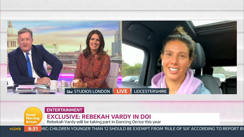 Rebekah speaking to the Good Morning Britain team (in her car, apparently) (Photo: ITV/Shutterstock)