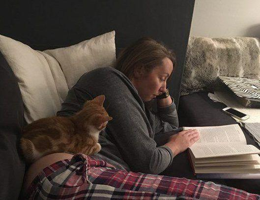 Onion's foster parents have fallen in love with their bottom-less kitten. Source: Facebook