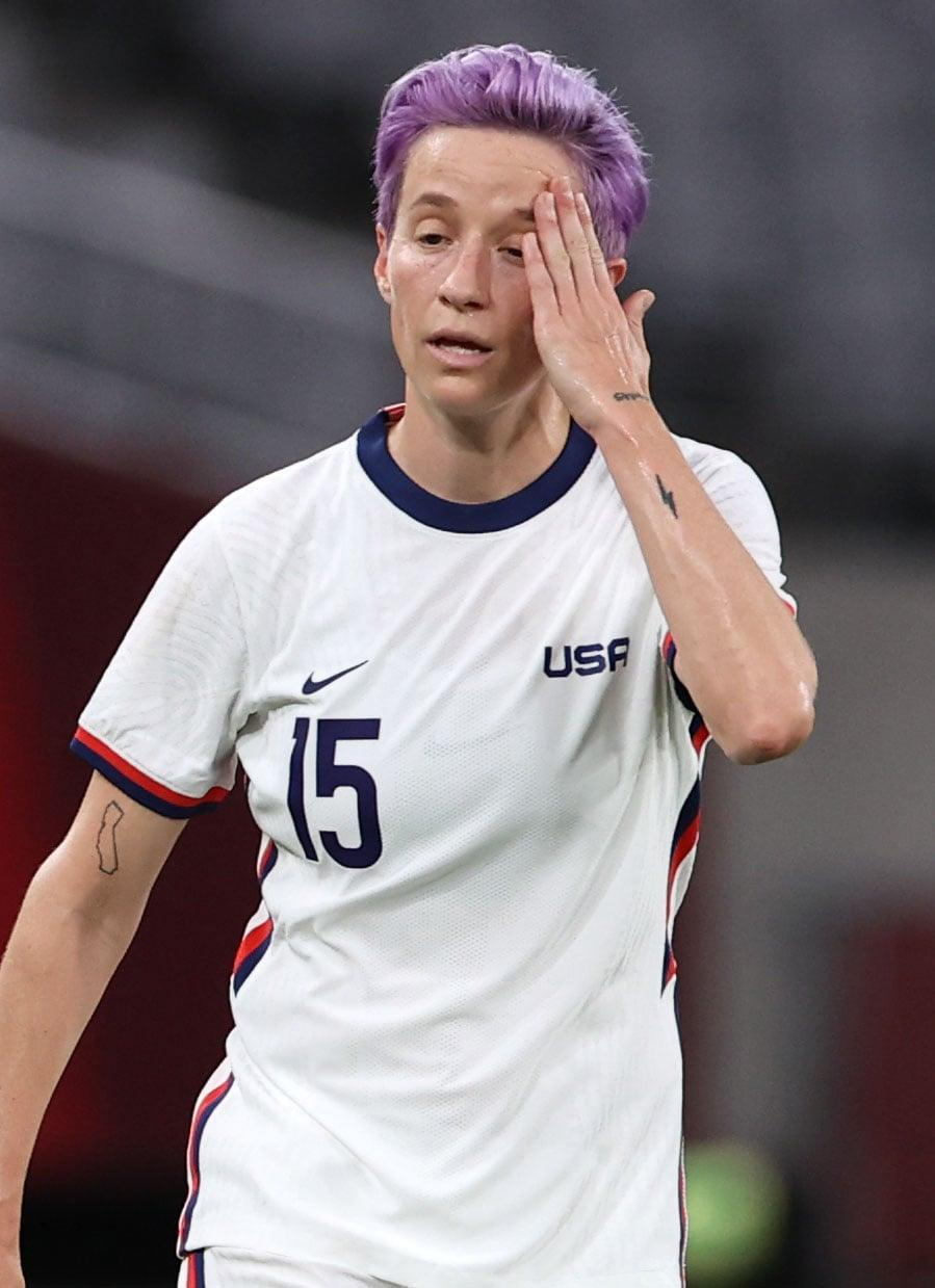 <p>Rapinoe has a solid black-ink lightning bolt tattoo on her left forearm. She's never shared its meaning.</p>