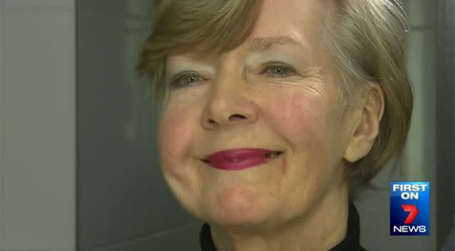 Mrs Murray's new ear is extremely realistic, and she is thrilled at the results. Photo: 7 News