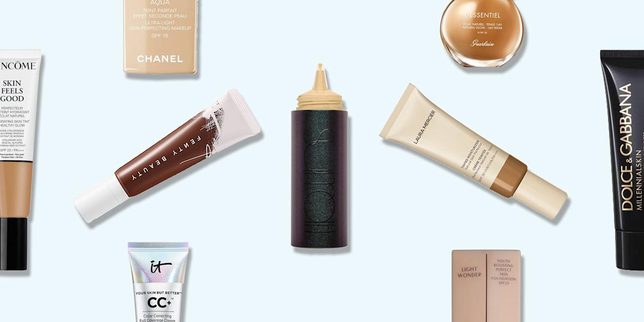 """<p>Finding a <a href=""""https://www.elle.com/uk/beauty/make-up/g7851/elle-beauty-edit-full-coverage-foundations-for-winter/"""" target=""""_blank"""">foundation</a> that doesn't cling on to parched patches of skin or accentuate flaky areas is no mean feat. </p><p>We've found the <a href=""""http://www.elleuk.com/beauty/make-up/beauty-tips/g7851/elle-beauty-edit-full-coverage-foundations-for-winter/"""" target=""""_blank"""">best full-coverage foundations</a>, the <a href=""""http://www.elleuk.com/beauty/make-up/beauty-tips/g26179/6-of-the-best-foundations-for-acne-prone-skin-blemishes-pimples-zits-makeup/"""" target=""""_blank"""">best foundation for acne</a> and even the all-time make-up artist approved <a href=""""http://www.elleuk.com/beauty/make-up/beauty-tips/g31610/best-foundations-all-skin-types/"""" target=""""_blank"""">best foundation</a> ever. But when our skin's feeling a little parched and we can't bear to see our forehead foundation flake off a mere ten minutes after applying it, we need something more specific.</p><p>Enter our best foundation for dry skin edit. From water-based to oil-free, barely-there to luxuriously creamy, these are the foundations you should be investing in. </p>"""