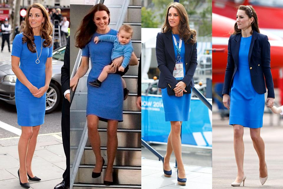 "<p>Not only is <a href=""https://www.townandcountrymag.com/style/fashion-trends/news/g1633/kate-middleton-fashion/"" rel=""nofollow noopener"" target=""_blank"" data-ylk=""slk:Kate Middleton known for her exquisite taste"" class=""link rapid-noclick-resp"">Kate Middleton known for her exquisite taste</a>, from her Alexander McQueen dresses to her festive Catherine Walker coats, but the Duchess of Cambridge is also known for keeping those outfits in a steady rotation. It turns out, rewearing outfits is a <em>do </em>for the royals. Naturally, Middleton's sartorial history is jam-packed with some outstanding outfit repeats from her rewearing of the christening outfits that she had made for her childrens' big days and even repeating coats that she is rumored to have designed herself. </p><p>See here the most stylish outfits that Kate Middleton has reworn and be inspired to go shopping in your own closet, just like a Duchess would. </p>"