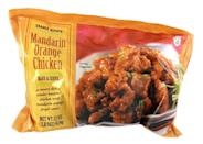 """<p>Mandarin Orange Chicken is a classic and a favorite among many Trader Joe's customers, so it pains us to say that it's not the ideal dinner for anyone who is watching what they eat. """"This chicken has been coated in a refined grain flour batter and the first ingredient in the sauce for this chicken is sugar,"""" <a href=""""https://summeryule.com/"""" rel=""""nofollow noopener"""" target=""""_blank"""" data-ylk=""""slk:Summer Yule"""" class=""""link rapid-noclick-resp"""">Summer Yule</a>, MS, RDN, tells Delish. """"Speaking from personal experience, it can be very difficult to stick to the serving size on the package for this product!"""" </p>"""