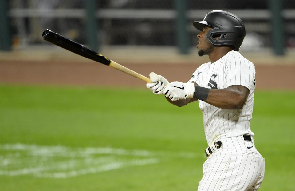 Tim Anderson hits a home run for the White Sox.