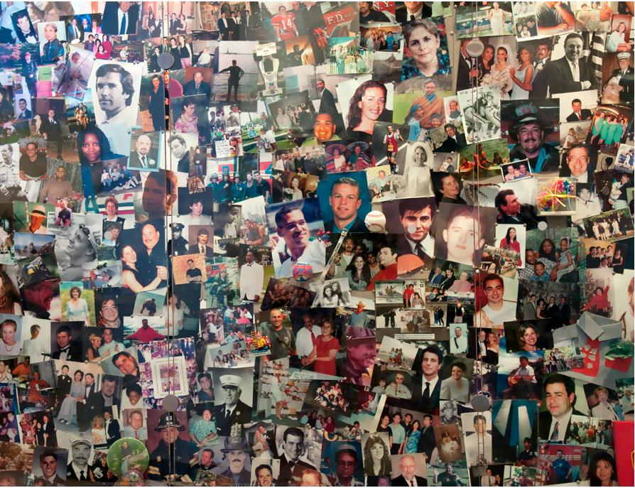 """World Trade Center Tribute<br><br>I visited the WTC Tribute Center in New York - an incredibly moving place, especially this room filled on every wall with pictures of the people who died in the attack.<br><br>By <a target=""""_blank"""" href=""""http://www.flickr.com/photos/traceyfoster/5984939803/sizes/l/in/pool-1775706@N22/"""">Tracey Whitefoot</a>, Copyright © 2011"""