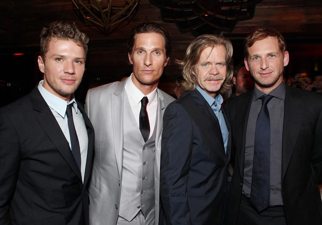 """<a href=""""http://movies.yahoo.com/movie/contributor/1800018813"""">Ryan Phillippe</a>, <a href=""""http://movies.yahoo.com/movie/contributor/1800018907"""">Matthew McConaughey</a>, <a href=""""http://movies.yahoo.com/movie/contributor/1800019192"""">William H. Macy</a> and <a href=""""http://movies.yahoo.com/movie/contributor/1800354375"""">Josh Lucas</a> at the Los Angeles premiere of <a href=""""http://movies.yahoo.com/movie/1810088161/info"""">The Lincoln Lawyer</a> on March 10, 2011."""