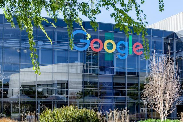 Mountain View, California, USA - March 29, 2018: Google sign on the building at Google's headquarters in Silicon Valley . Google is an American technology company in Internet-related services and products.