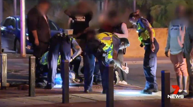 A photo from the scene following the brawl. Photo: 7 News.
