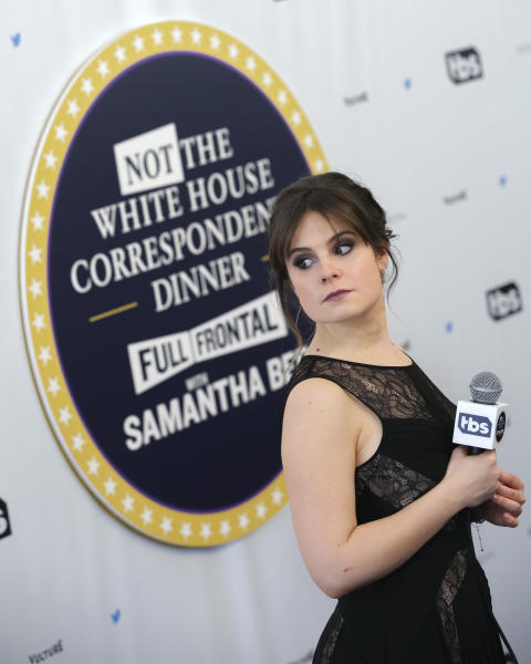 "Amy Hoggart attends ""Full Frontal with Samantha Bee's Not the White House Correspondents' Dinner"" at DAR Constitution Hall on Saturday, April, 29, 2017, in Washington. (Photo by Brent N. Clarke/Invision/AP)"