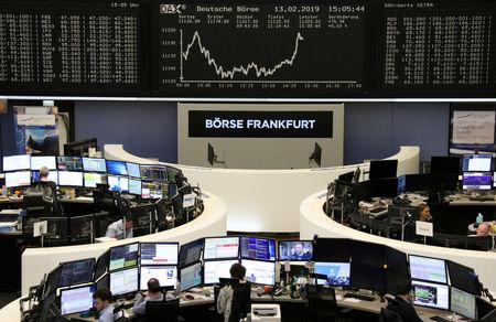 The German share price index DAX graph is pictured at the stock exchange in Frankfurt, Germany, February 13, 2019.    REUTERS/Staff