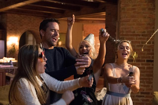 Maisy Stella, Charles Esten, Lennon Stella, and Clare Bowen in <em>Nashville.</em> (Photo: CMT)