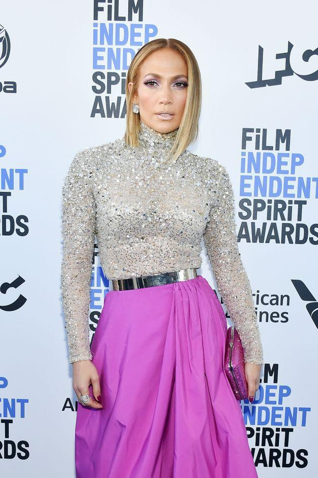 Jennifer Lopez at the 2020 Film Independent Spirit Awards in February, 2020 in Santa Monica, California. (Photo: Amy Sussman via Getty Images)