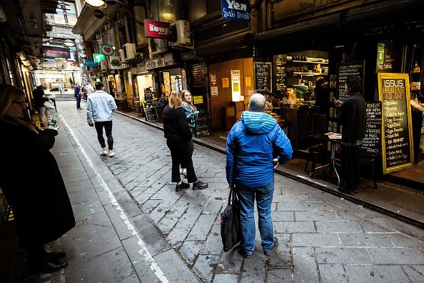 A laneway is pictured in Melbourne.