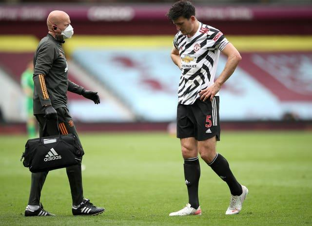 Maguire suffered ankle damage during Manchester United's win at Aston Villa.