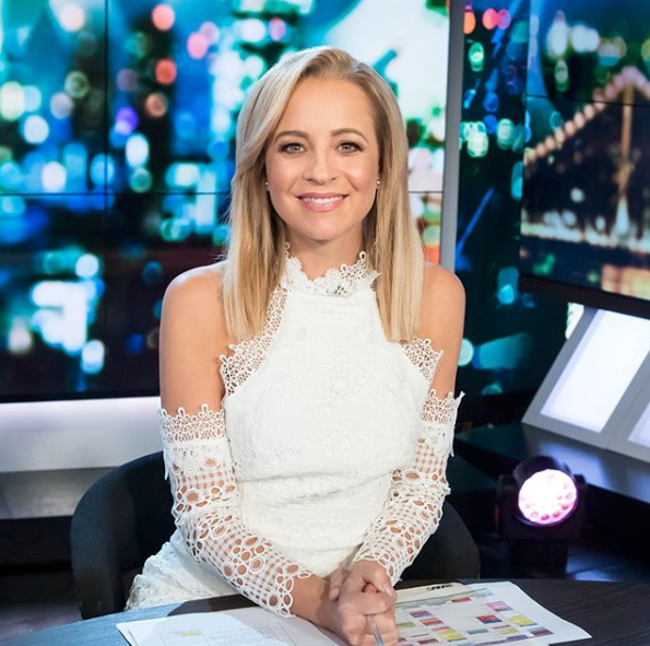 <p>The Project host wears a white dress by Elliatt. Source: Instagram/bickmorecarrie </p>