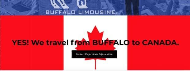 A new post on Buffalo Limousine's website informs Canadian travellers that it will drive them from Buffalo, N.Y., across the Canadian border.