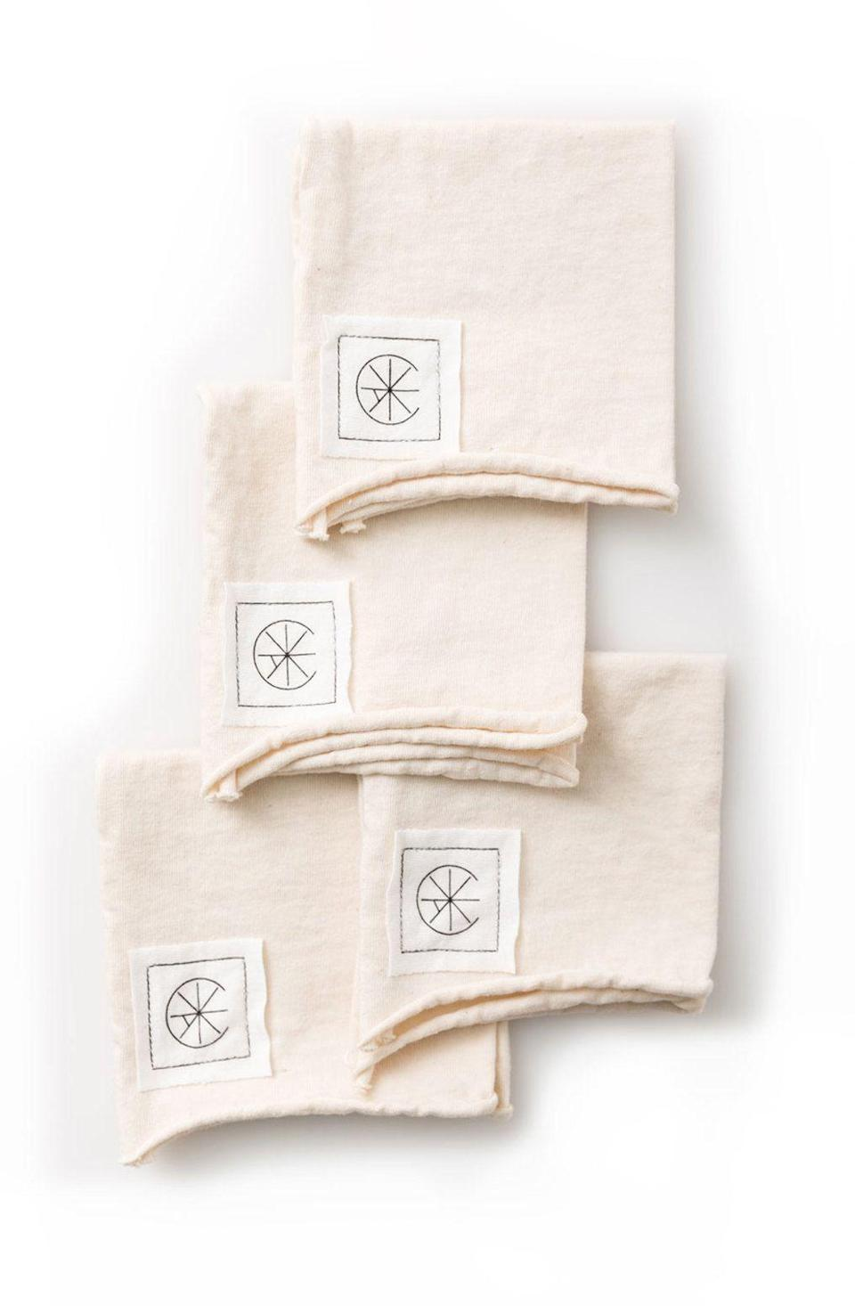 """<p><strong>Alabama Chanin</strong></p><p>alabamachanin.com</p><p><strong>$38.00</strong></p><p><a href=""""https://alabamachanin.com/products/cotton-cocktail-napkins?taxon_id=18"""" rel=""""nofollow noopener"""" target=""""_blank"""" data-ylk=""""slk:Discover"""" class=""""link rapid-noclick-resp"""">Discover</a></p><p><a href=""""https://alabamachanin.com/"""" rel=""""nofollow noopener"""" target=""""_blank"""" data-ylk=""""slk:Alabama Chanin's"""" class=""""link rapid-noclick-resp"""">Alabama Chanin's</a> organic jersey napkins are for laid back evenings and come in a variety of colors.</p>"""