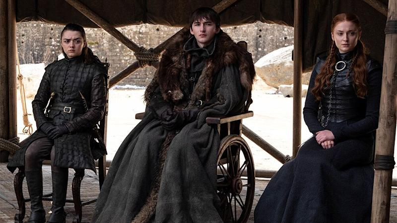 Arya, Bran and Sansa Stark in Game of Thrones (Credit: HBO)