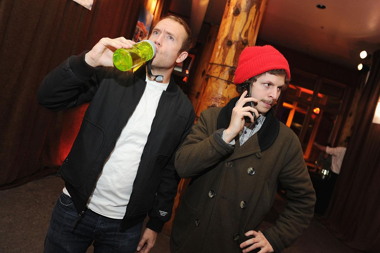 Mark Webber and Michael Cera are seen out and about during the 2012 Sundance Film Festival in Park City, Utah on January 20, 2012.