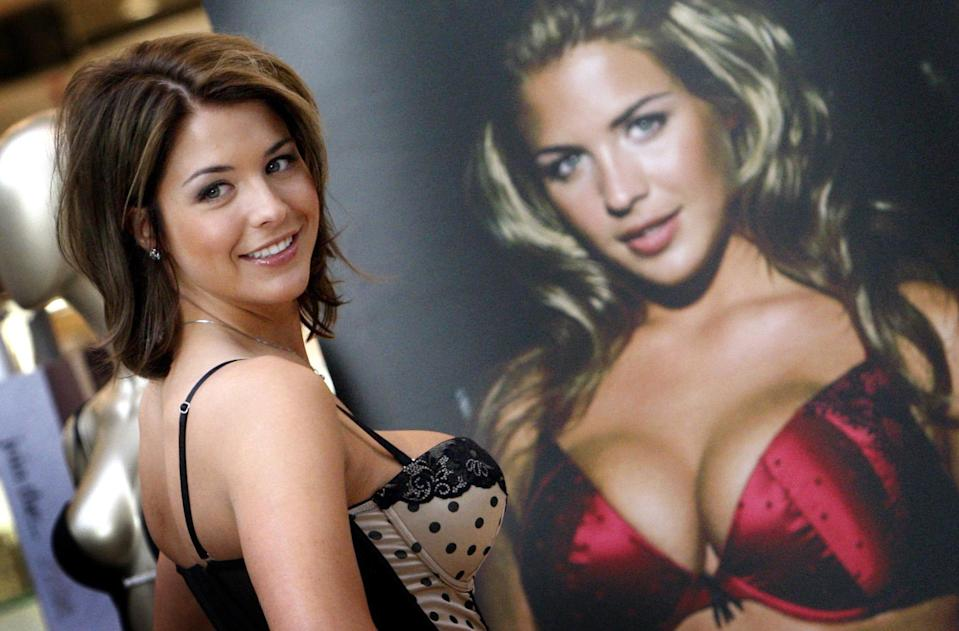 Actress Gemma Atkinson in Ultimo lingerie at Debenhams in Silverburn, Glasgow. (Photo by Danny Lawson - PA Images/PA Images via Getty Images)