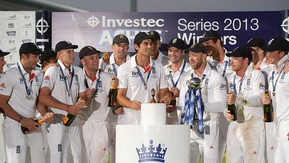England players celebrate after securing a 3-0 series win against Australia via gettyimages