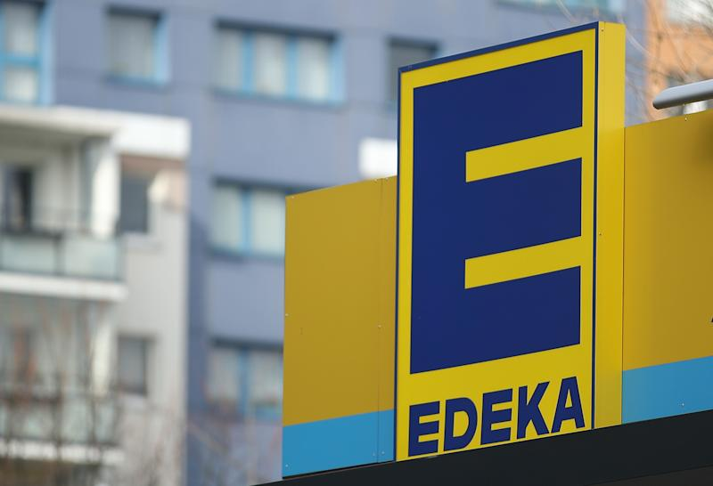 BERLIN, GERMANY - FEBRUARY 19: The logo of grocery store of German chain Edeka stands on one of its stores on February 19, 2018 in Berlin, Germany. According to media reports Agecore-Group, to which Edeka belongs, has launched a boycott of foods from Swiss foods conglomerate Nestle with Agecore claiming Nestle is selling the same food items cheaper to Agecore's competitors. (Photo by Sean Gallup/Getty Images)