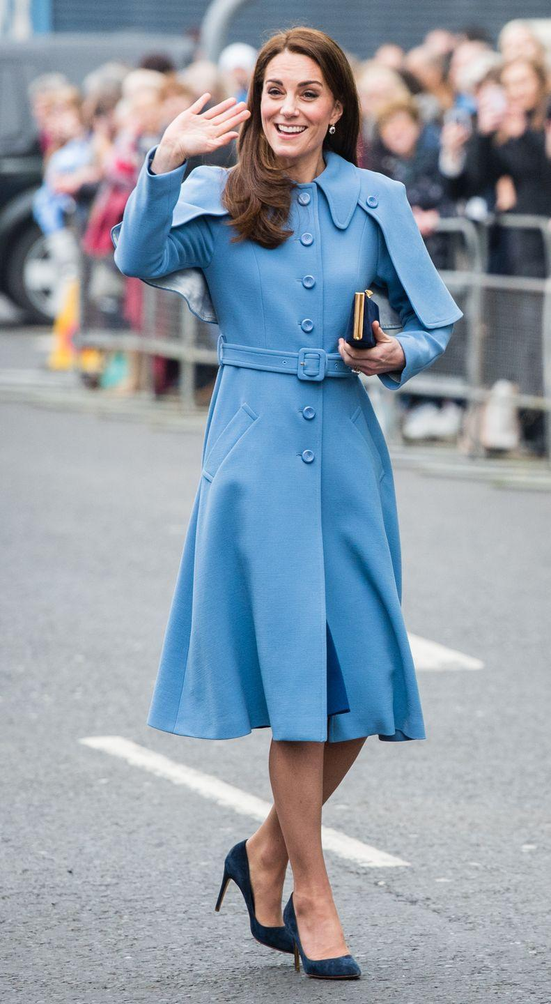 """<p>Fans couldn't help but compare Kate's caped coat to <em><a href=""""https://www.marieclaire.com/celebrity/a26602384/kate-middleton-harry-potter-look-beauxbatons/"""" rel=""""nofollow noopener"""" target=""""_blank"""" data-ylk=""""slk:Harry Potter"""" class=""""link rapid-noclick-resp"""">Harry Potter</a></em><a href=""""https://www.marieclaire.com/celebrity/a26602384/kate-middleton-harry-potter-look-beauxbatons/"""" rel=""""nofollow noopener"""" target=""""_blank"""" data-ylk=""""slk:'s Beauxbatons uniform"""" class=""""link rapid-noclick-resp"""">'s Beauxbatons uniform</a>—most memorably worn by the Fleur Delacour, a style icon if there ever was one.<br></p>"""