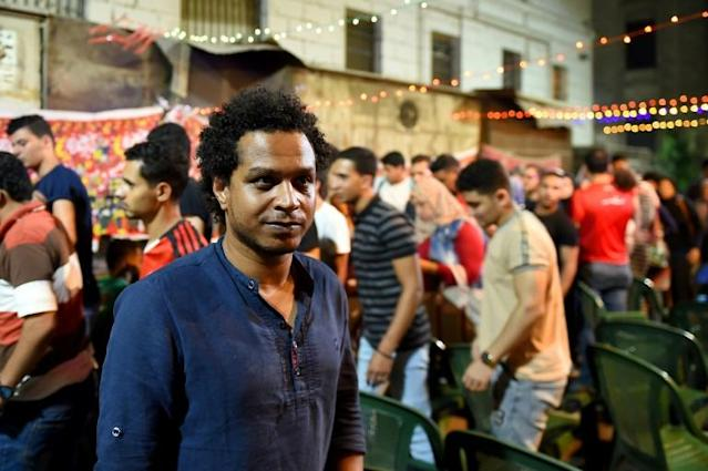 Egptian football fans like Mahmoud Hashem find little to get excited about in the Africa Cup of Nations - and Egyptian football in general (AFP Photo/MOHAMED EL-SHAHED )