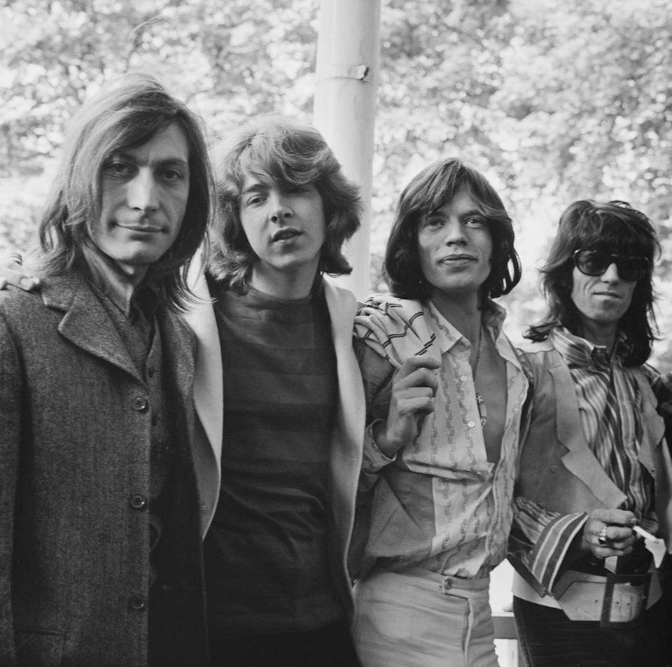 With Mick Taylor, Jagger and Richards prior to their Hyde Park concert on 13 June 1969 (Getty)