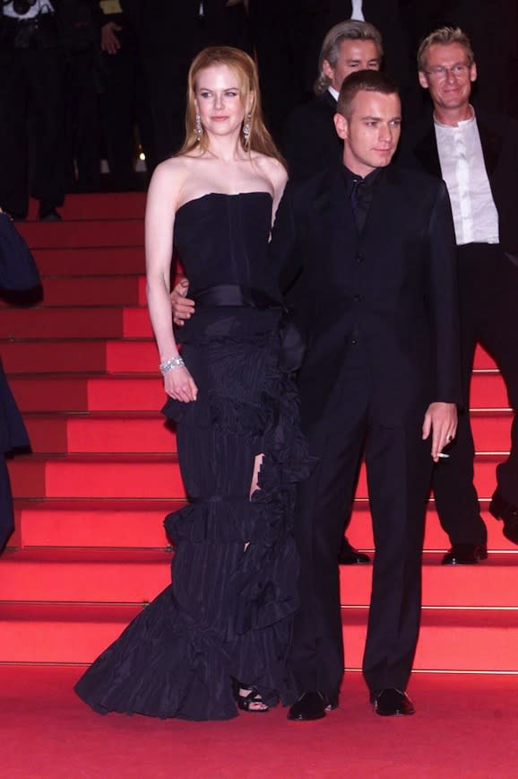 At the Premiere of Moulin Rouge at the Cannes Film Festival with Ewan McGregor, 2001